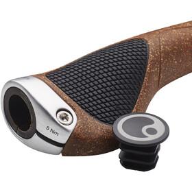 Ergon GP1 BioKork Grips Rohloff/Nexus brown/black